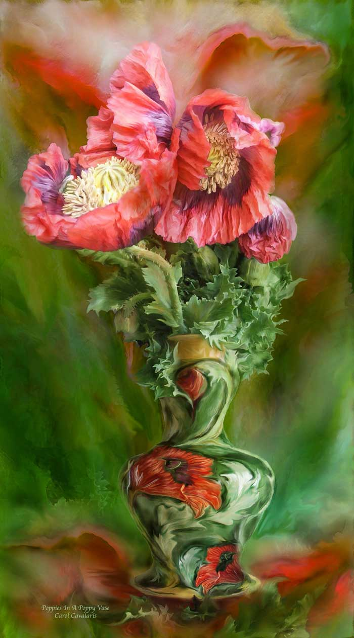 Poppies In Poppy Vase