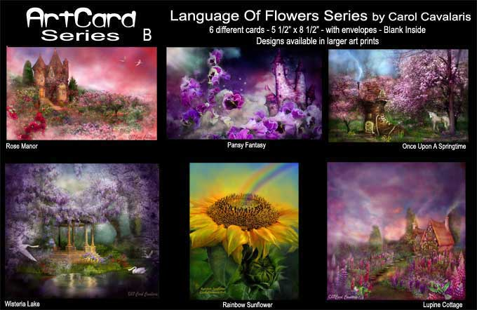 Language Of Flowers Art Cards